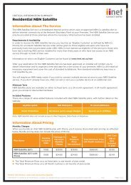 VoIP Critical Information Summary - iiNet