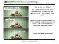 Softwareergonomie - IIP - KIT