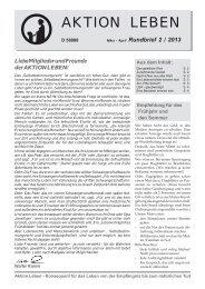 Rundbrief 02-2013 als PDF - AKTION LEBEN e.V