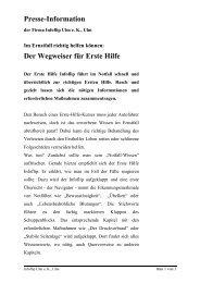 Presse-Information Der Wegweiser für Erste Hilfe - Infoflip