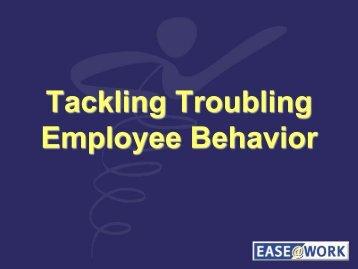 Tackling Troubling Employee Behavior