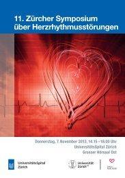 11. Zürcher Symposium über Herzrhythmusstörungen - Fortbildung