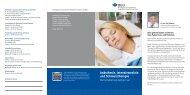 Flyer Anästhesie, Intensivmedizin und Schmerztherapie als pdf zum ...