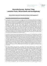 Veranstaltungs - Institut für Interdisziplinäre Restrukturierung