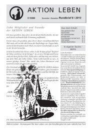 Rundbrief 06-2013 als PDF - Aktion Leben e.V.