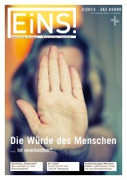EiNS-Magazin 3/2013 - Deutsche Evangelische Allianz