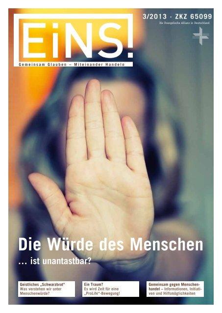 EiNS-Magazin 3/2013 - Deutsche Evangelische Allianz