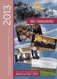 wir heldsdörfer - brief unserer hg - weihnachten 2013 - Heldsdorf