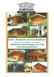 Unsere Angebotspreise ab Werk in € inkl. 19 ... - Blockhaus Barth