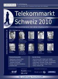 Telekommarkt Schweiz 2010