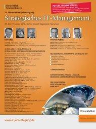 Strategisches IT-Management. - IIR Deutschland GmbH