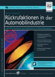 Rückrufaktionen in der Automobilindustrie - IIR Deutschland GmbH