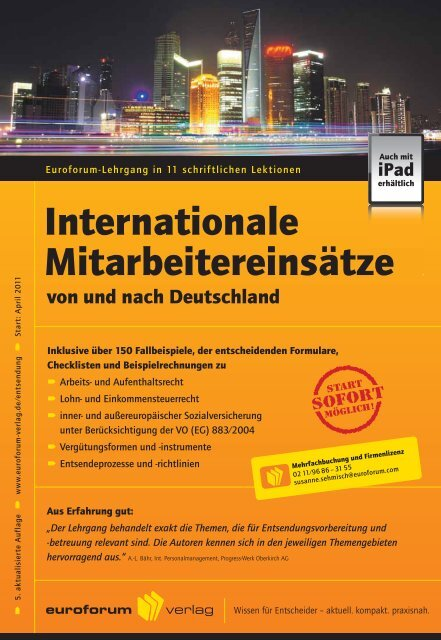 Internationale Mitarbeitereinsätze - IIR Deutschland GmbH