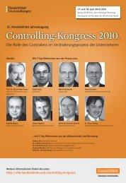 Controlling-Kongress 2010. - IIR Deutschland GmbH
