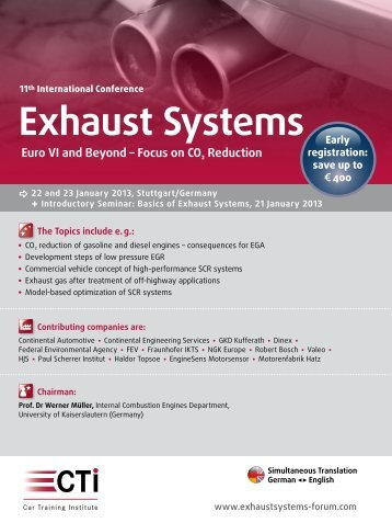 Exhaust Systems - IIR Deutschland GmbH
