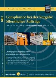 Compliance bei der Vergabe öffentlicher Aufträge - IIR Deutschland ...