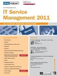 IT Service Management 2011 - IIR Deutschland GmbH