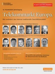 Telekommarkt Europa. - IIR Deutschland GmbH