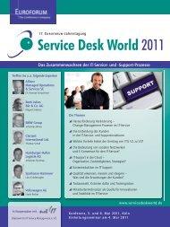 Service Desk World2011 - IIR Deutschland GmbH