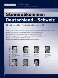 Deutschland – Schweiz Steuerabkommen - IIR Deutschland GmbH