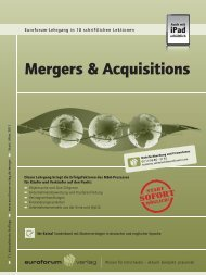 Mergers & Acquisitions - IIR Deutschland GmbH