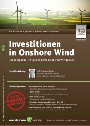 Investitionen in Onshore Wind - IIR Deutschland GmbH