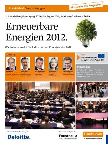 Erneuerbare Energien 2012. - IIR Deutschland GmbH