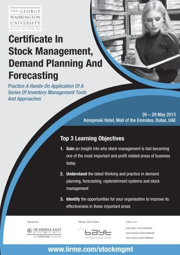 Certificate In Stock Management, Demand ... - IIR Middle East
