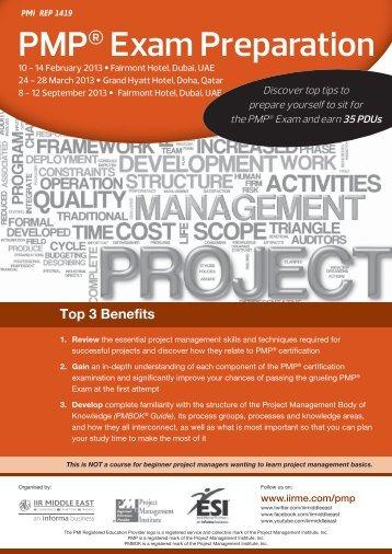 PMP® Exam Preparation - IIR Middle East