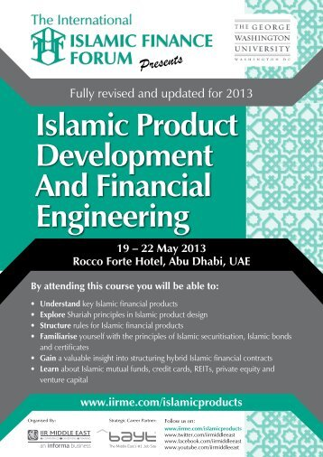 Islamic Product Development And Financial ... - IIR Middle East