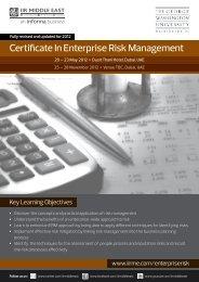 Certificate In Enterprise Risk Management - IIR Middle East