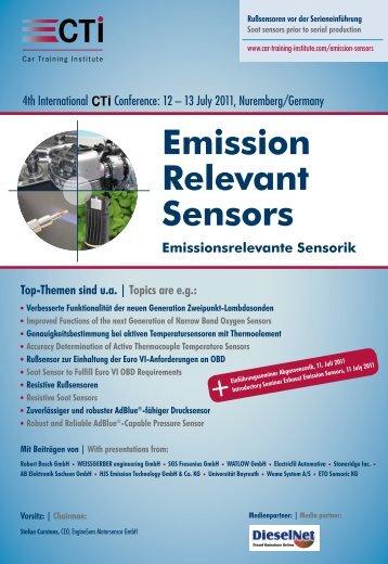 Emission Relevant Sensors - IIR Deutschland GmbH
