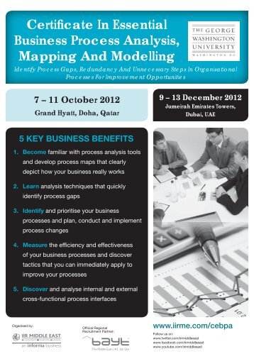 Certificate In Essential Business Process Analysis ... - IIR Middle East