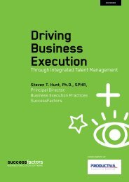 Driving Business Execution Through Integrated Talent Management