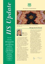 Message from the Director - The Institute of Ismaili Studies