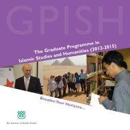 GPISH prospectus 2011_Layout 1.qxd - The Institute of Ismaili Studies