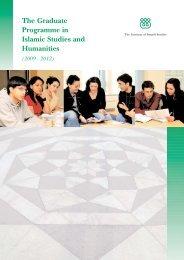 GPISH prospectus.qxp - The Institute of Ismaili Studies