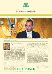 2008 IIS Update - The Institute of Ismaili Studies