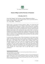 Imam al-Baqir and the Doctrine of Imamate - The Institute of Ismaili ...