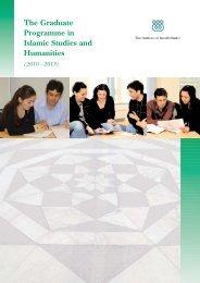 GPISH prospectus 2009.qxp - The Institute of Ismaili Studies