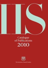 Catalogue of Publications 2010 - The Institute of Ismaili Studies