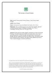 Institutionalisation of Muslim Ethics - The Institute of Ismaili Studies