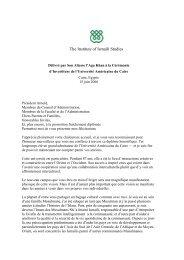 Télécharger la version PDF du discours - The Institute of Ismaili ...