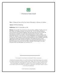 Télécharger la version pdf de l'article - The Institute of Ismaili Studies