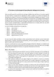 Conclusiones Mesas de debate El Turismo en la RIS3 de Canarias