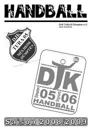 DJK Styrum 06 - Saisonheft 2008/2009