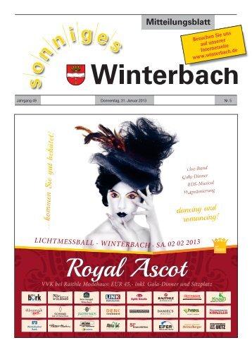 Mitteilungsblatt KW 5/2013 - Gemeinde Winterbach