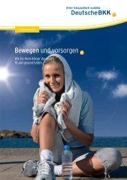 Bewegung - Wie Sie Ihren Körper dauerhaft fit und ... - Deutsche BKK