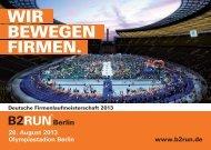 Teilnehmerbooklet Berlin 2013 - B2Run