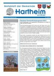 Gemeindeblatt 2013 KW38 - Gemeinde Hartheim